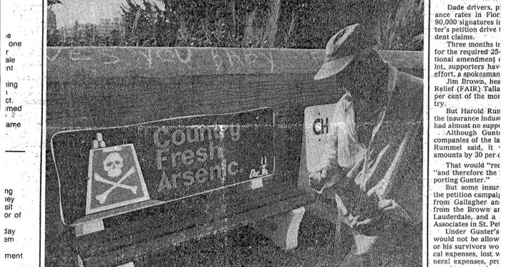 1977 Miami News Benching a Bad Habit