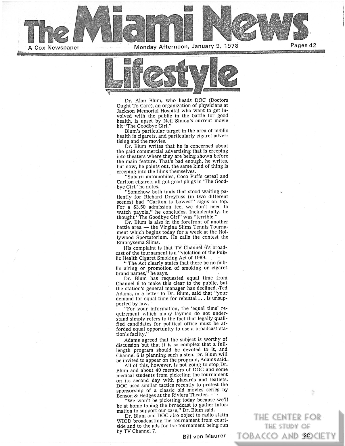 1978 01 09 Miami News New Answer for the Where to Dine Question