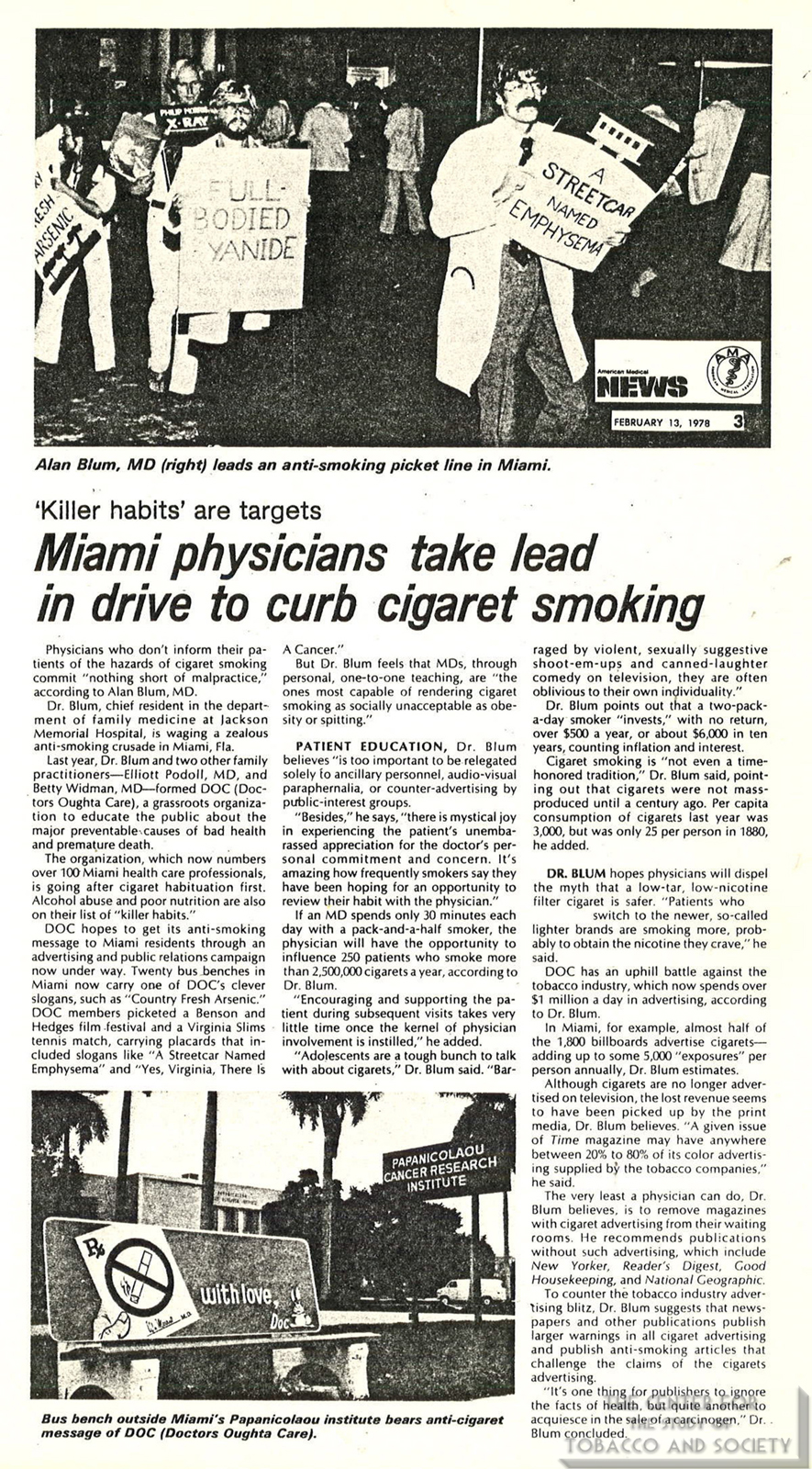 1978 02 13 AM News Miami Physicians Take Lead in Drive to Curb Smoking