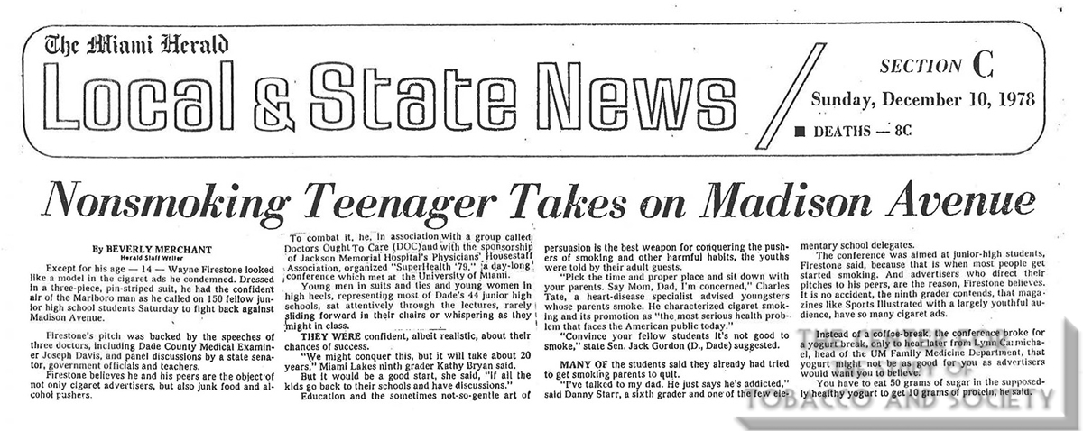 1978 12 10 Miami Herald Nonsmoking Teenager Takes On Madison Ave