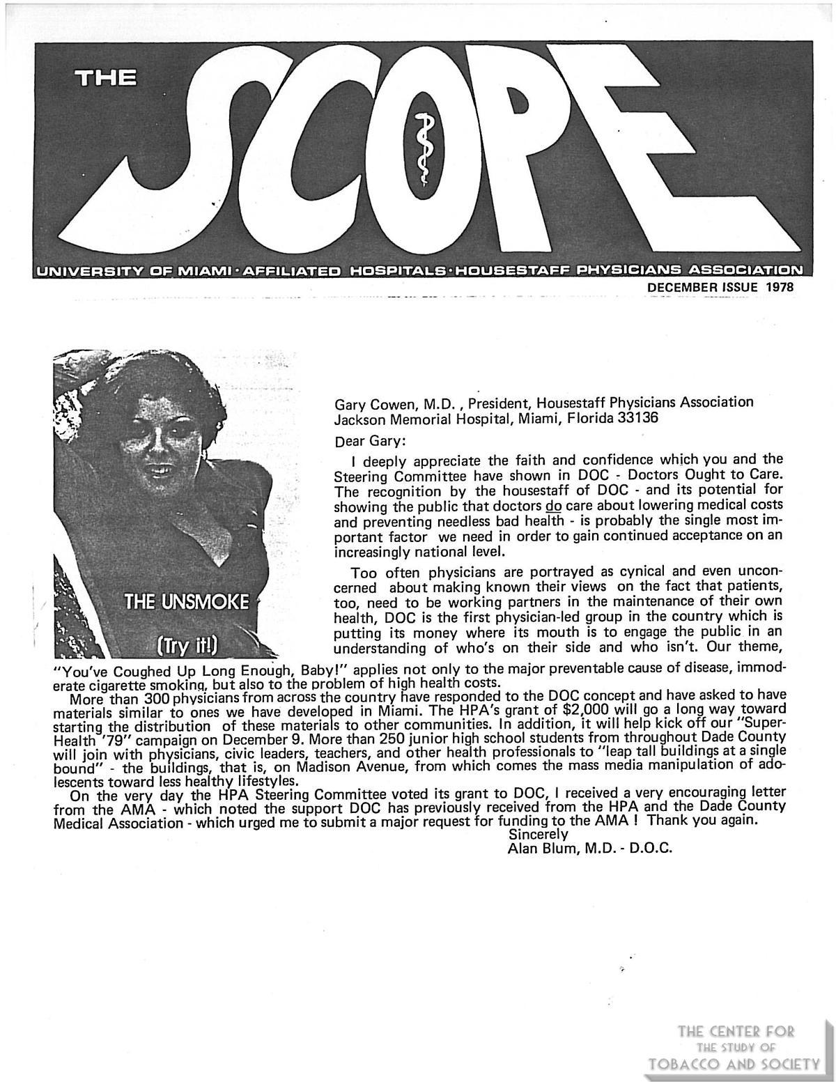 1978 12 Uni of Miami Scope DOC Info Activities