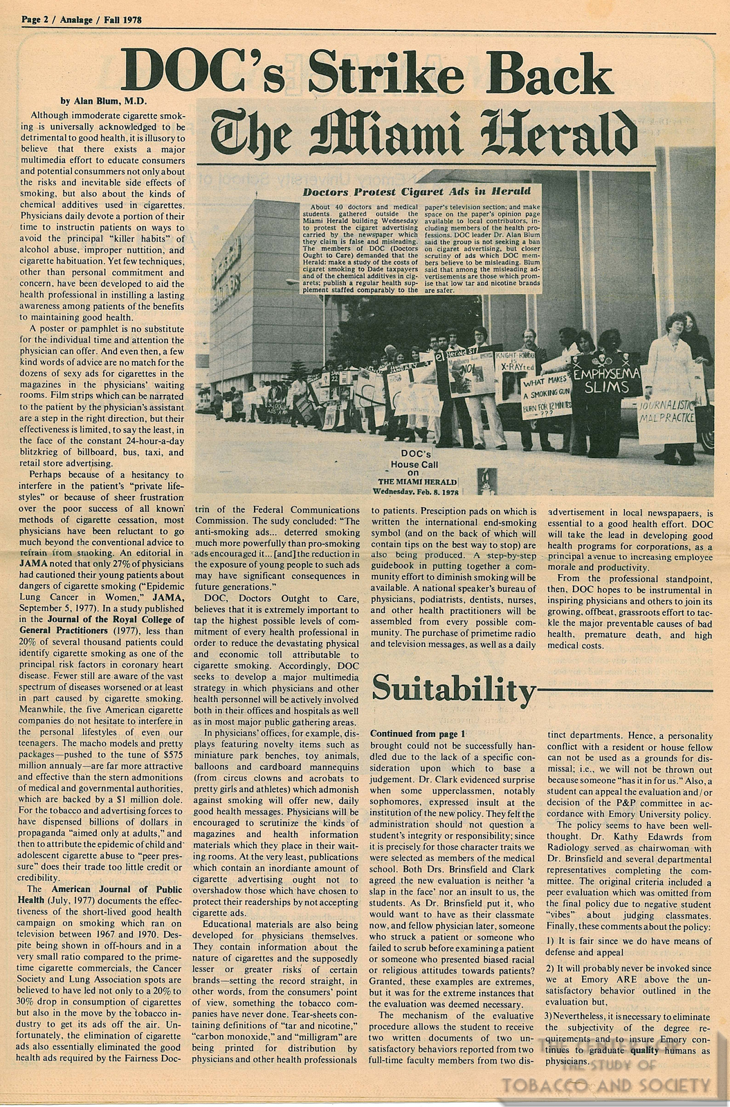1978 Analage DOCs Strike Back