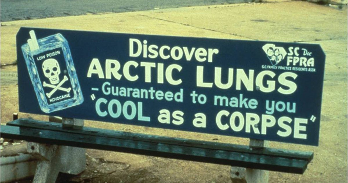 1978 DOC Bus Bench Discover Arctic Lungs