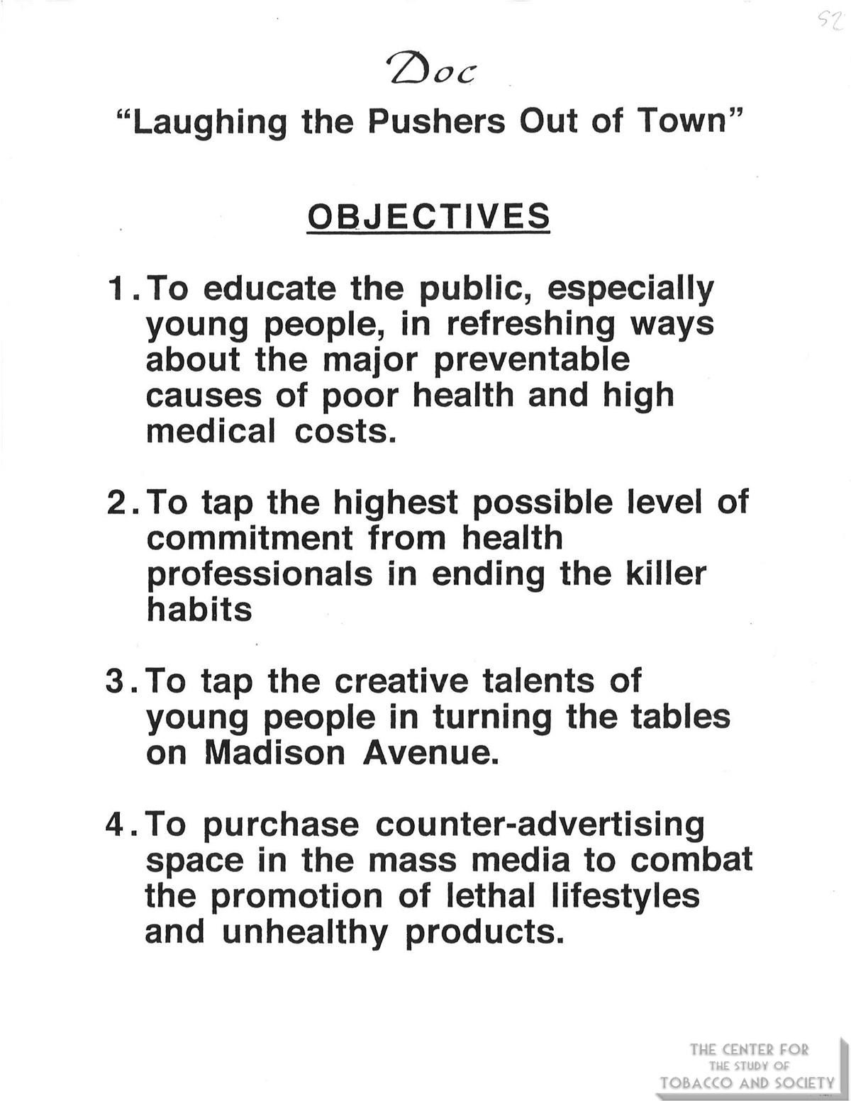1978 List of DOCs 4 Objectives
