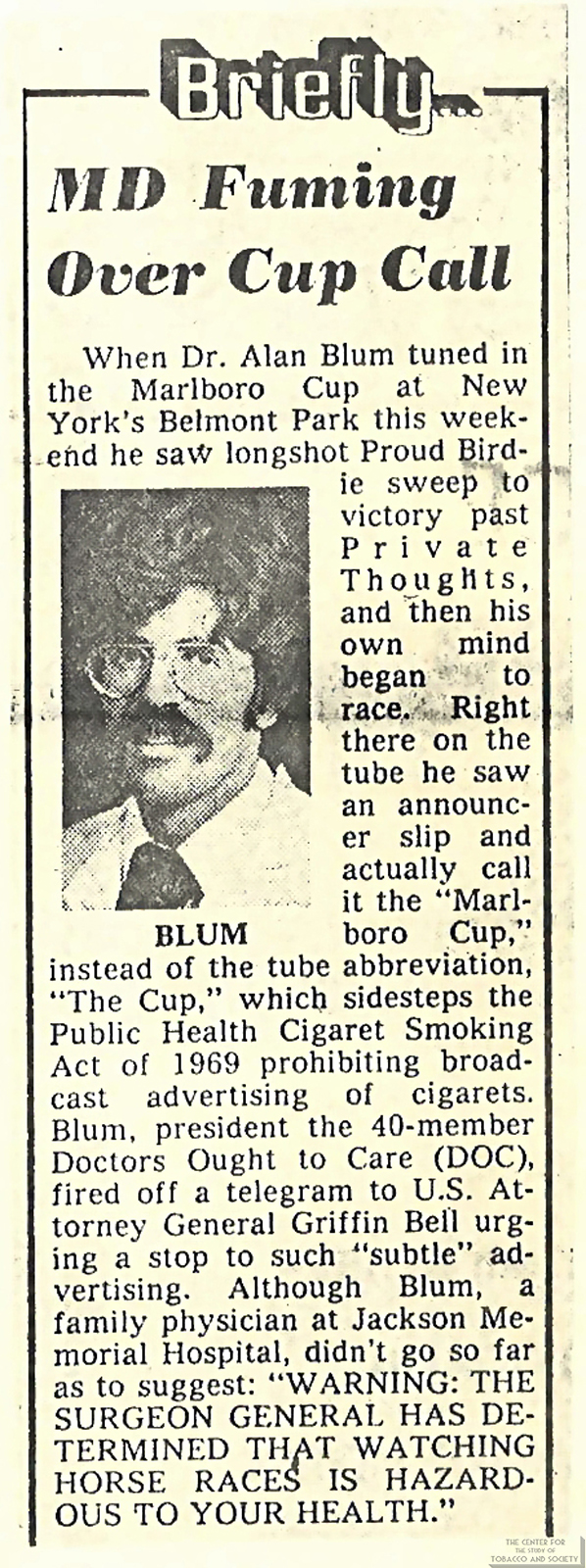 1978 MD Fuming Over Cup Call