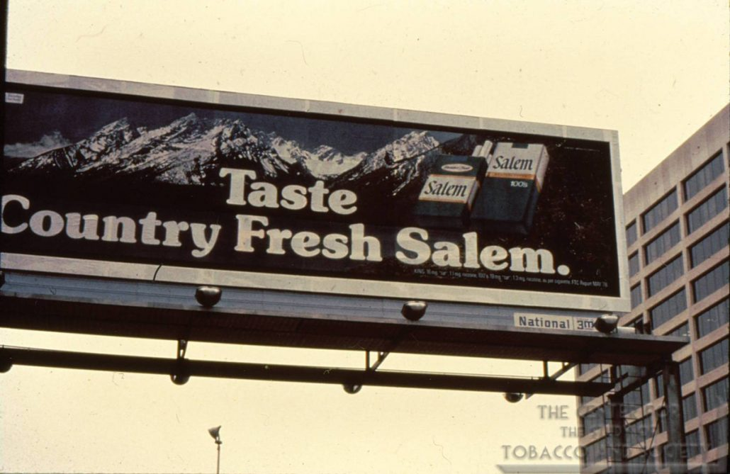 1978 Salem Billboard Taste Country Fresh