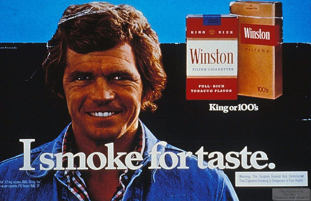 1978 Winston Ad I Smoke for Taste wm