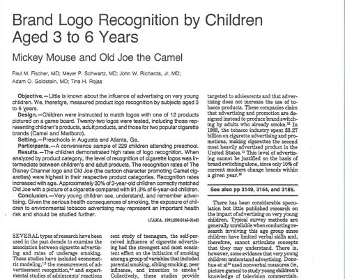 1991 12 11 JAMA Brand Logo Recognition by Children
