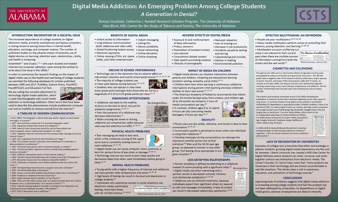 2017 Digital Media Addiction Poster 2