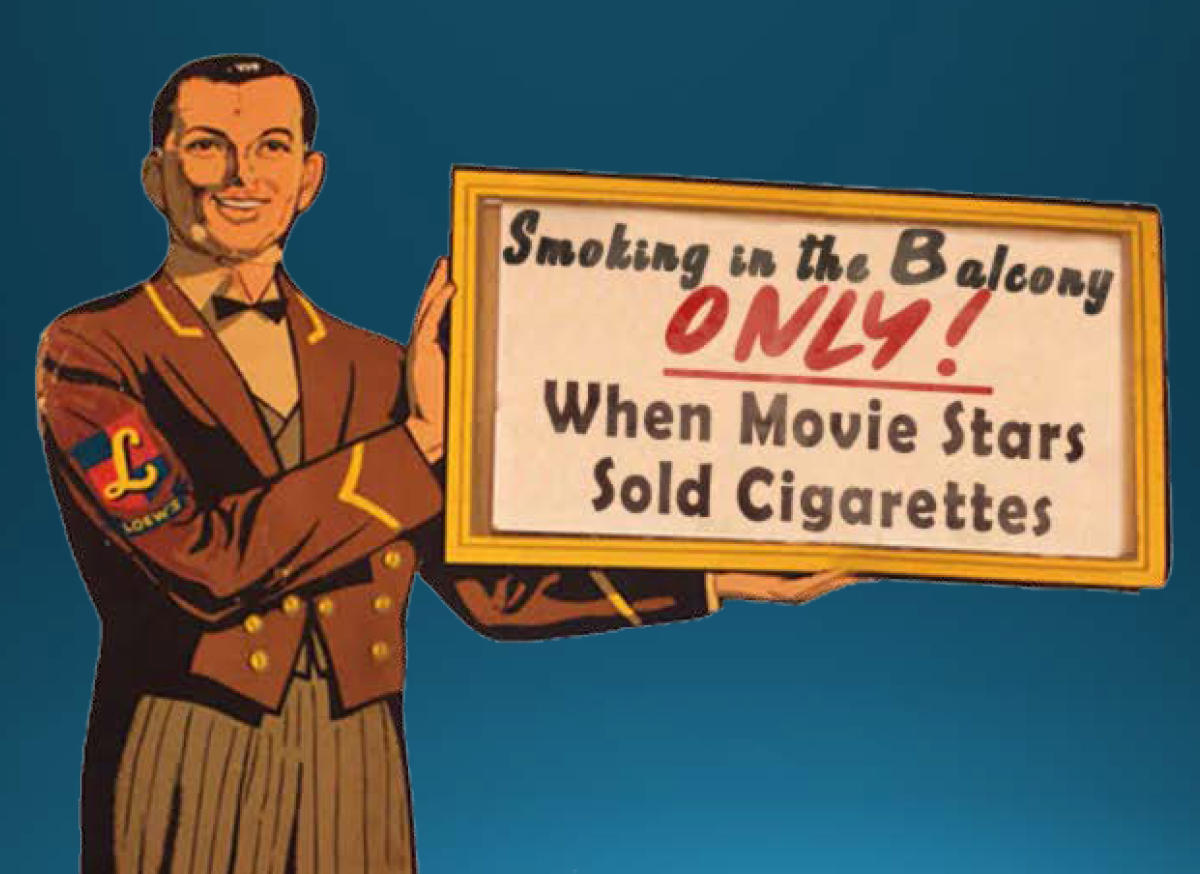 Smoking in the Balcony Only When Movie Stars Sold Cigarettes