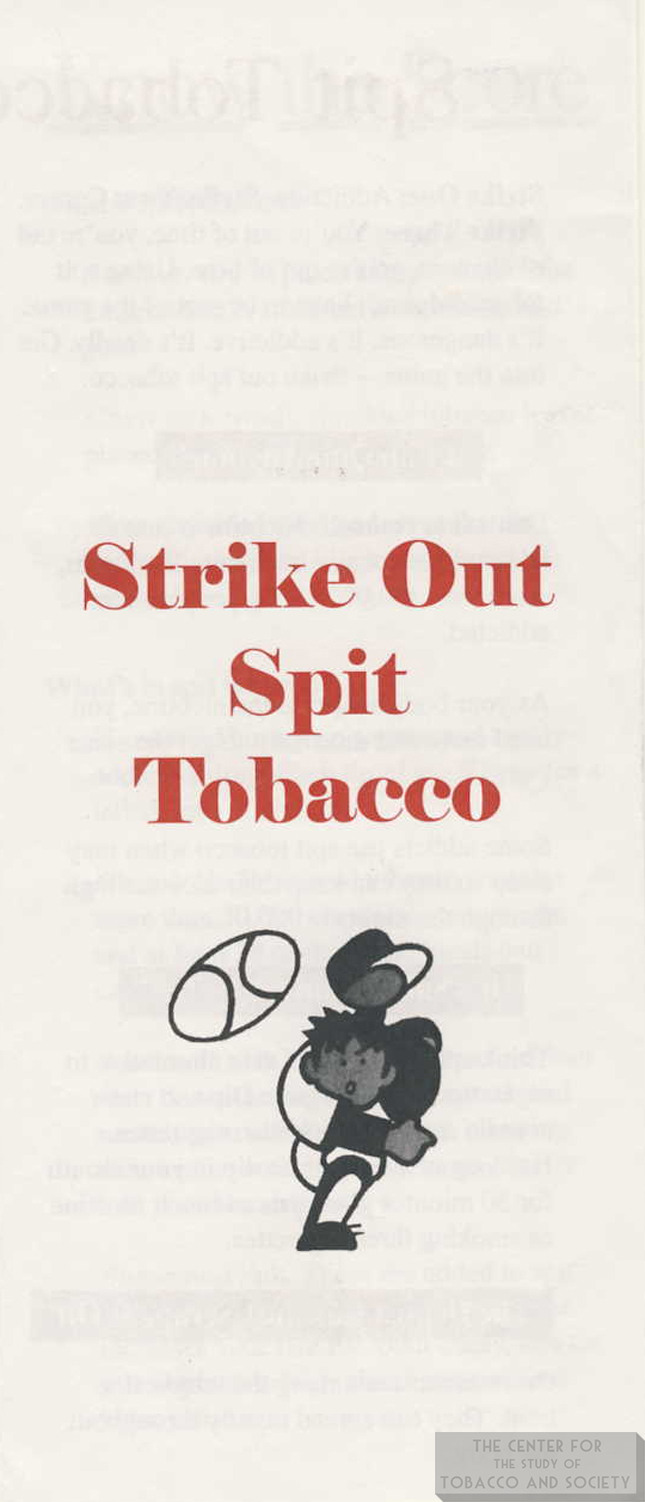 Strike Out Spit Tobacco Brochure Front