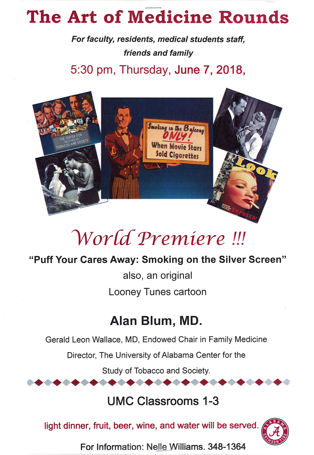 The Art of Medicien Rounds World premire puff your cares away smoking on the silver screen