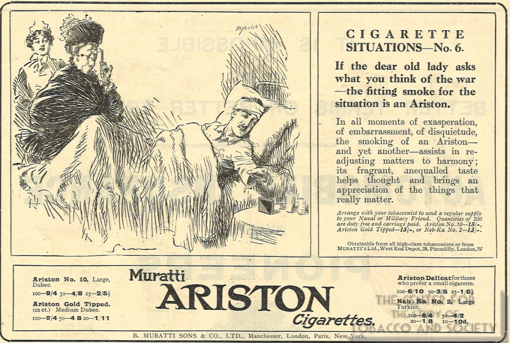 1917 Punch Muratti Ariston Ad Cig Situations No 6