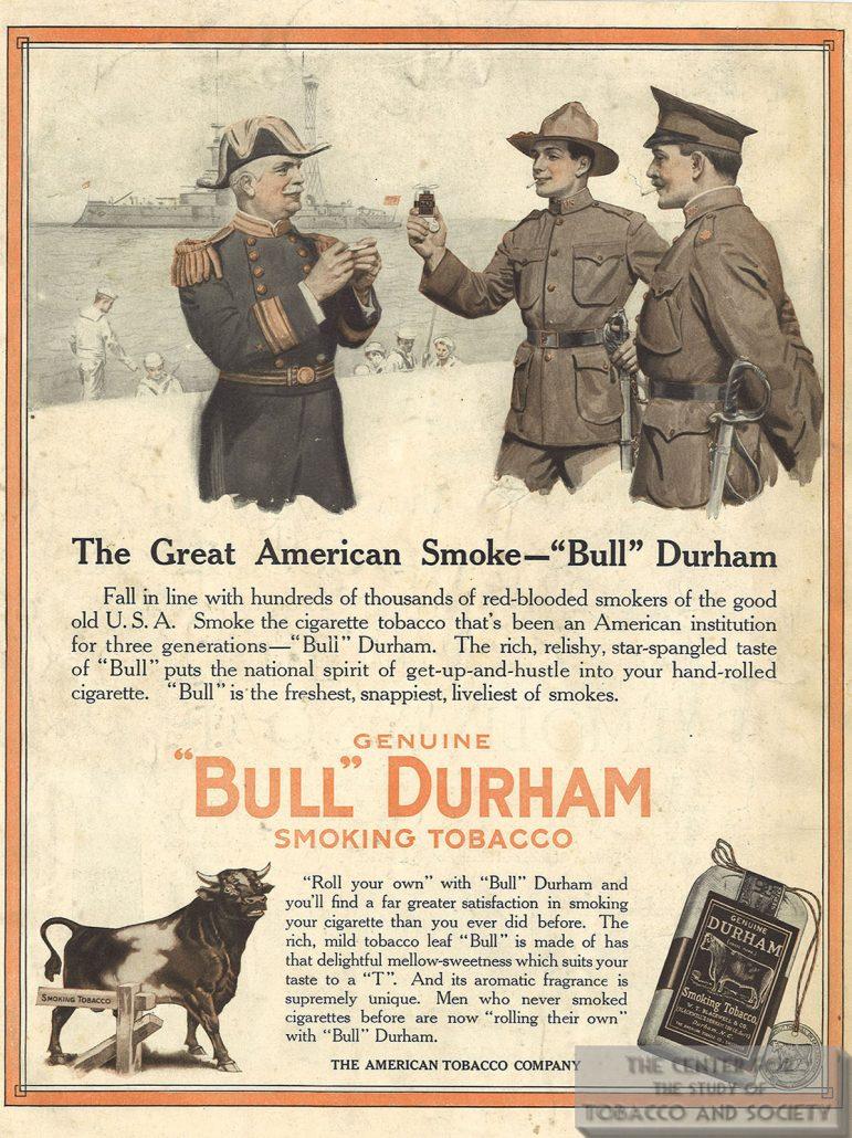 1918 Bull Durham Tobacco Ad Great American Smoke alternate