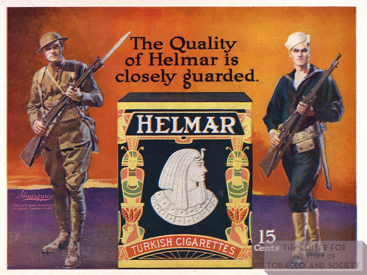1918 Helmar Ad Quality of Helmar is Closely Guarded