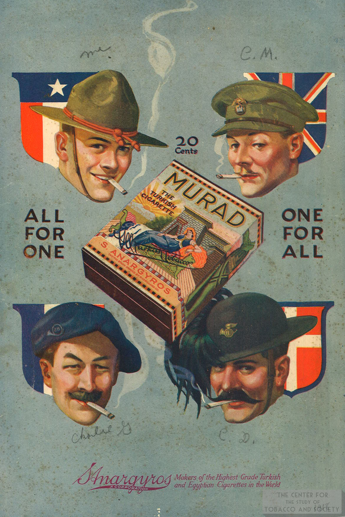 1918 Murad Ad All for One One for All
