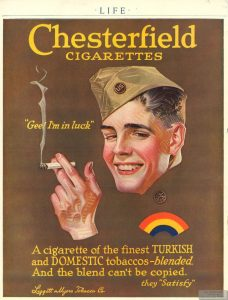 1919 Life Chesterfield Ad Im in Luck