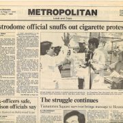 1990 05 07 Houston Chronicle Astrodome Official Snuffs Out Cig Protest 1 wm