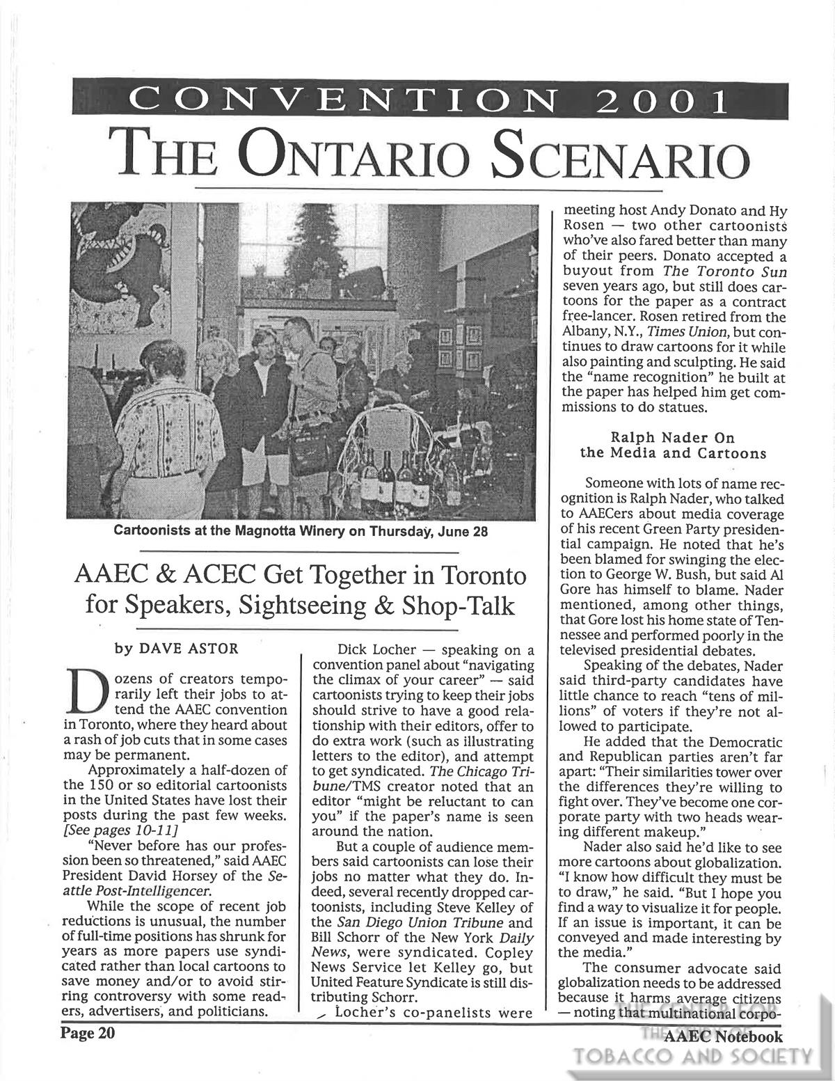 2001 AAEC The Ontario Scenario