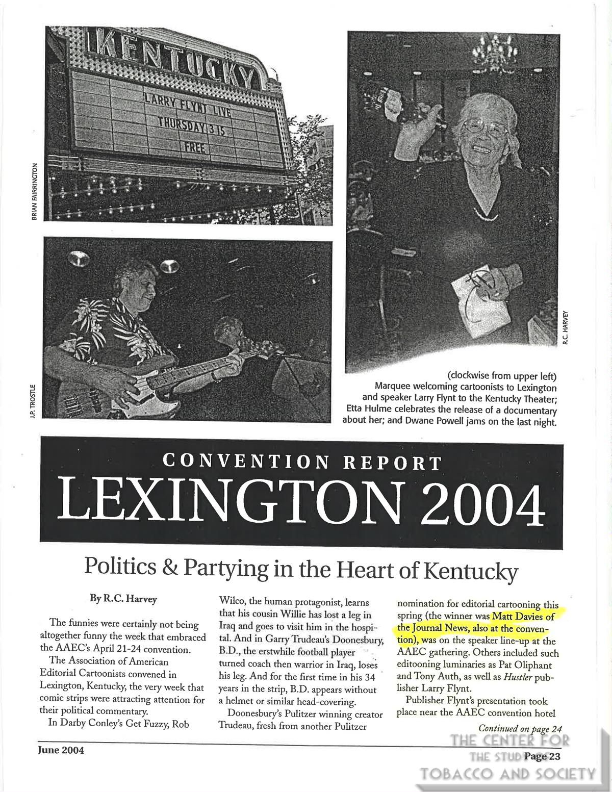 2004 06 AAEC Notebook Convention Report Lexington Kentucky
