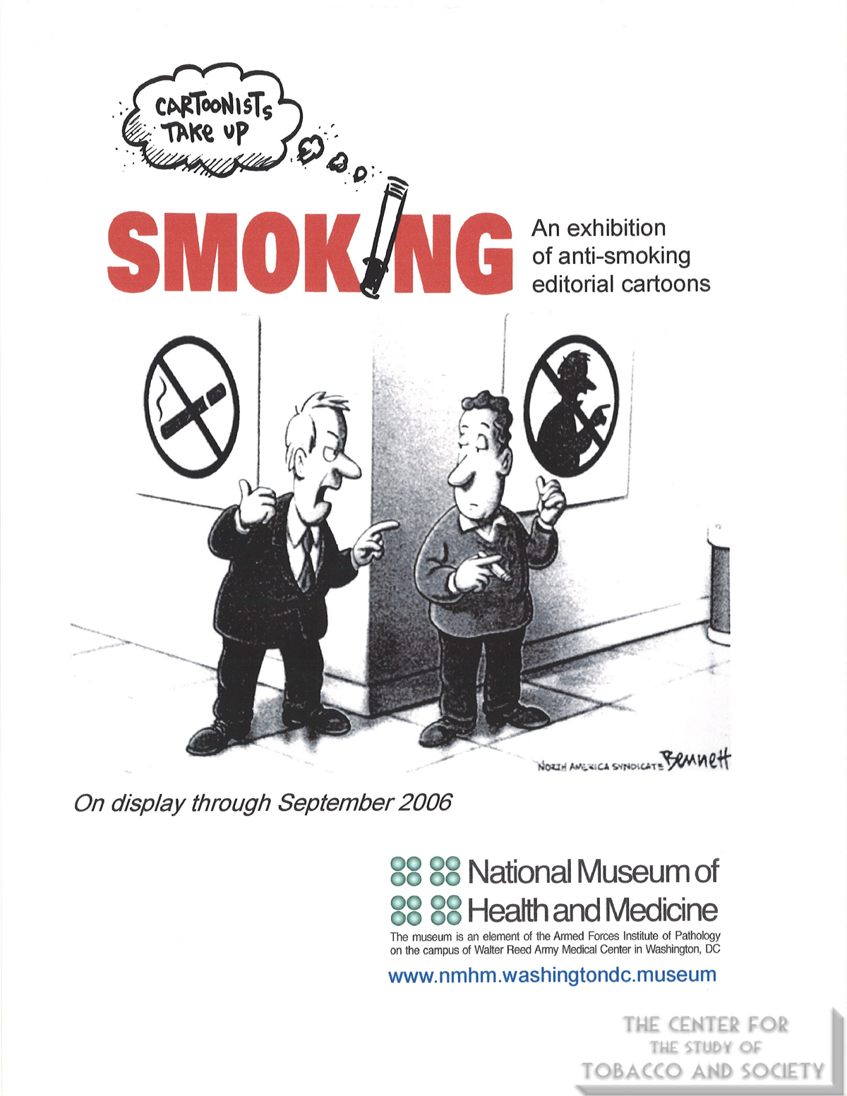 2006 09 Cartoonists Take Up Smoking National Musuem of Health and Medicine Flyer