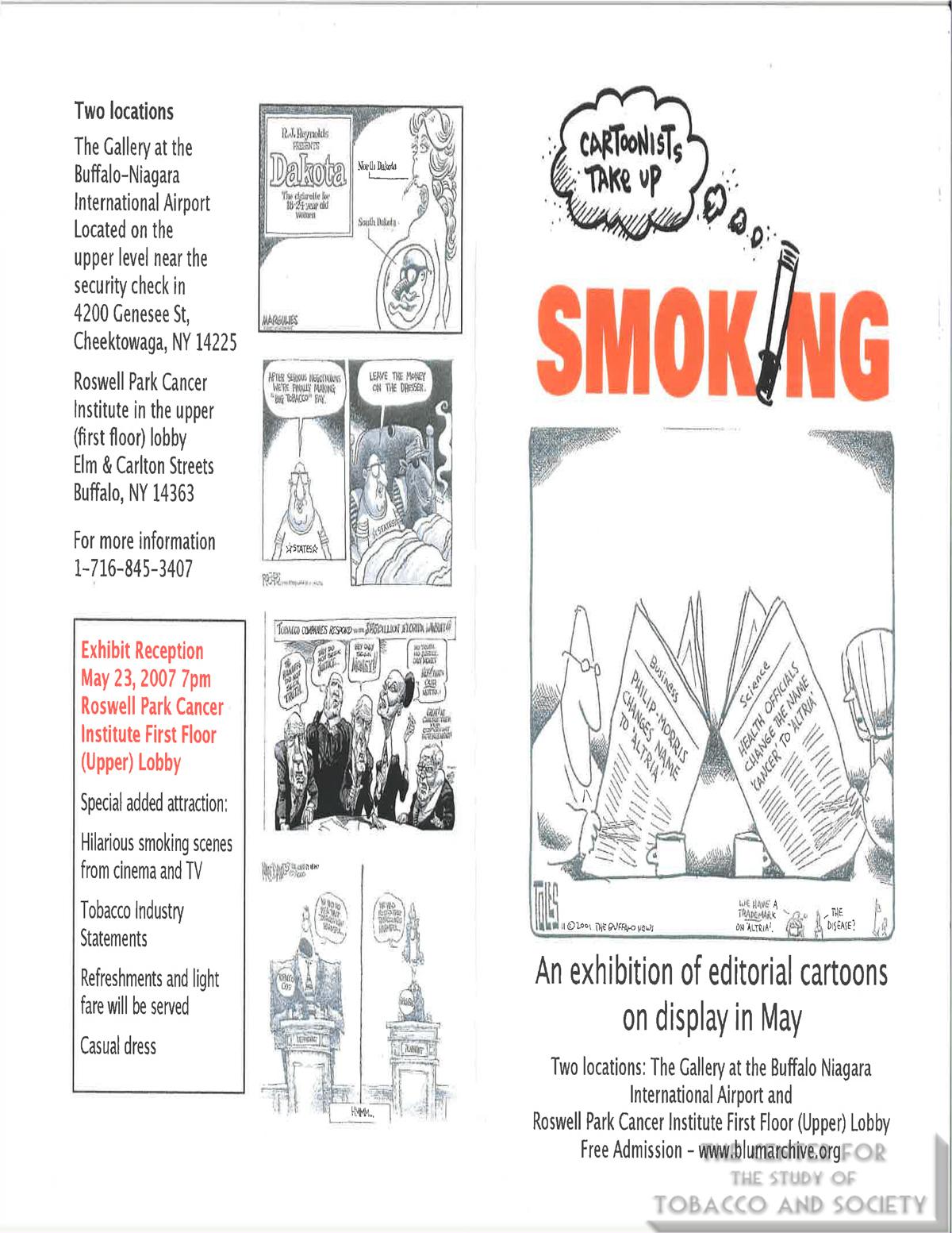2007 05 Cartoonists Take Up Smoking Gallery Program