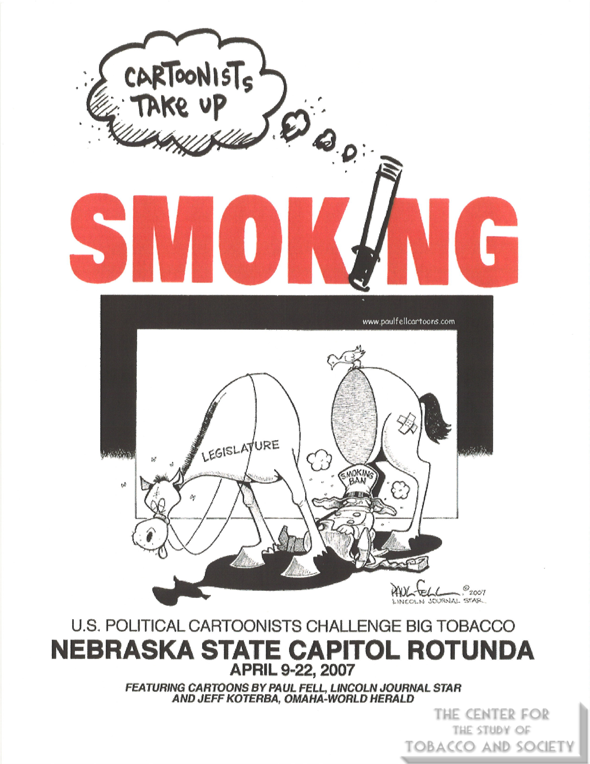2007 Nebraska State Capitol Rotunda Cartoonists Take Up Smoking