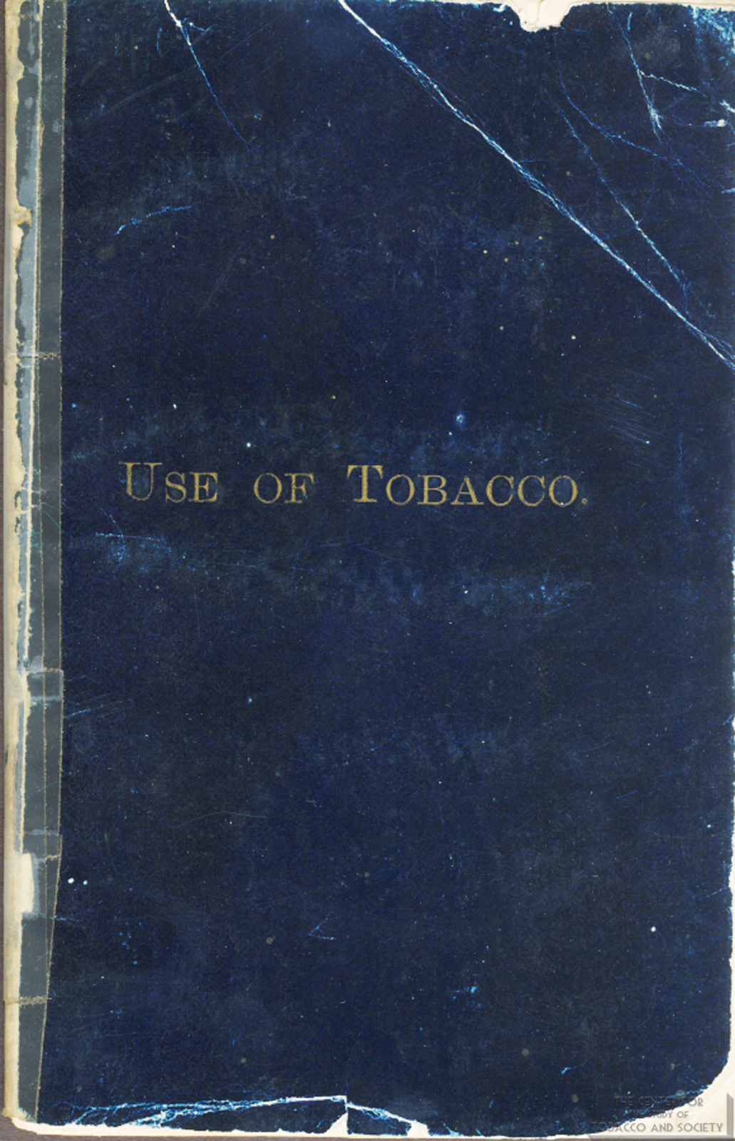 1868 Evils of Tobacco Front Cover