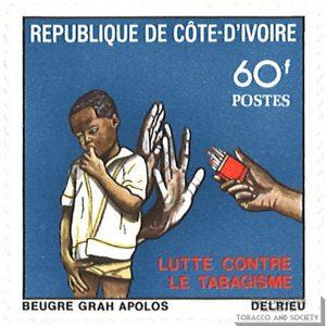 1980 Ivory Coast Anti Smoking Stamp