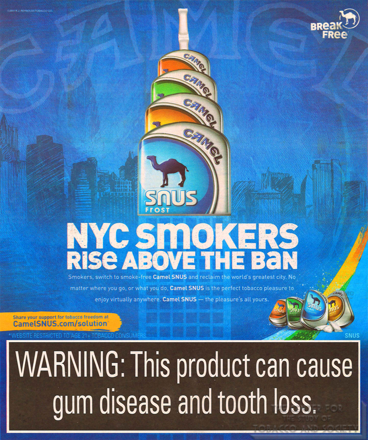 Camel NYC smokers rise above the ban