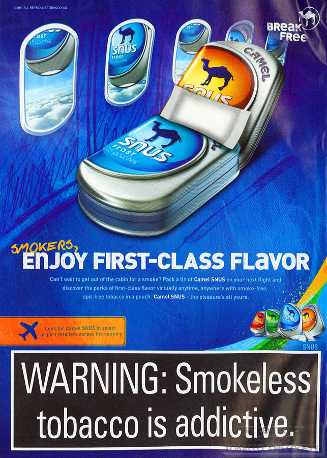 Camel Smokers enjoy first class flavor