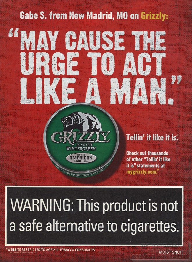 Grizzly May Casue the Urge to Act Like a Man