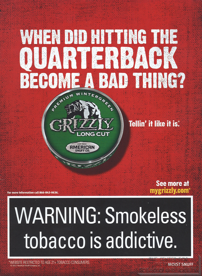 Grizzly When did Hitting the Quarterback become a Bad Thing