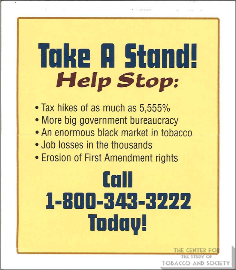 United States Tobacco Company Take A Stand Back