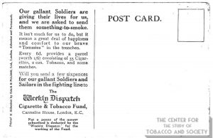n.d. Weekly Dispatch Cigarette and Tobacco Fund Our gallant Soldiers