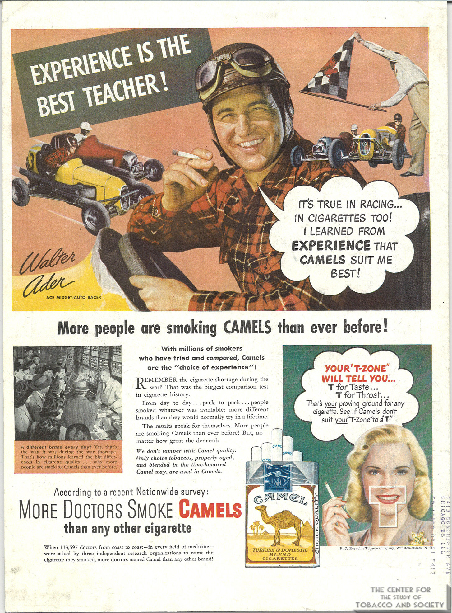 """The """"More Doctors Smoke Camels"""" Campaign – The Center for"""