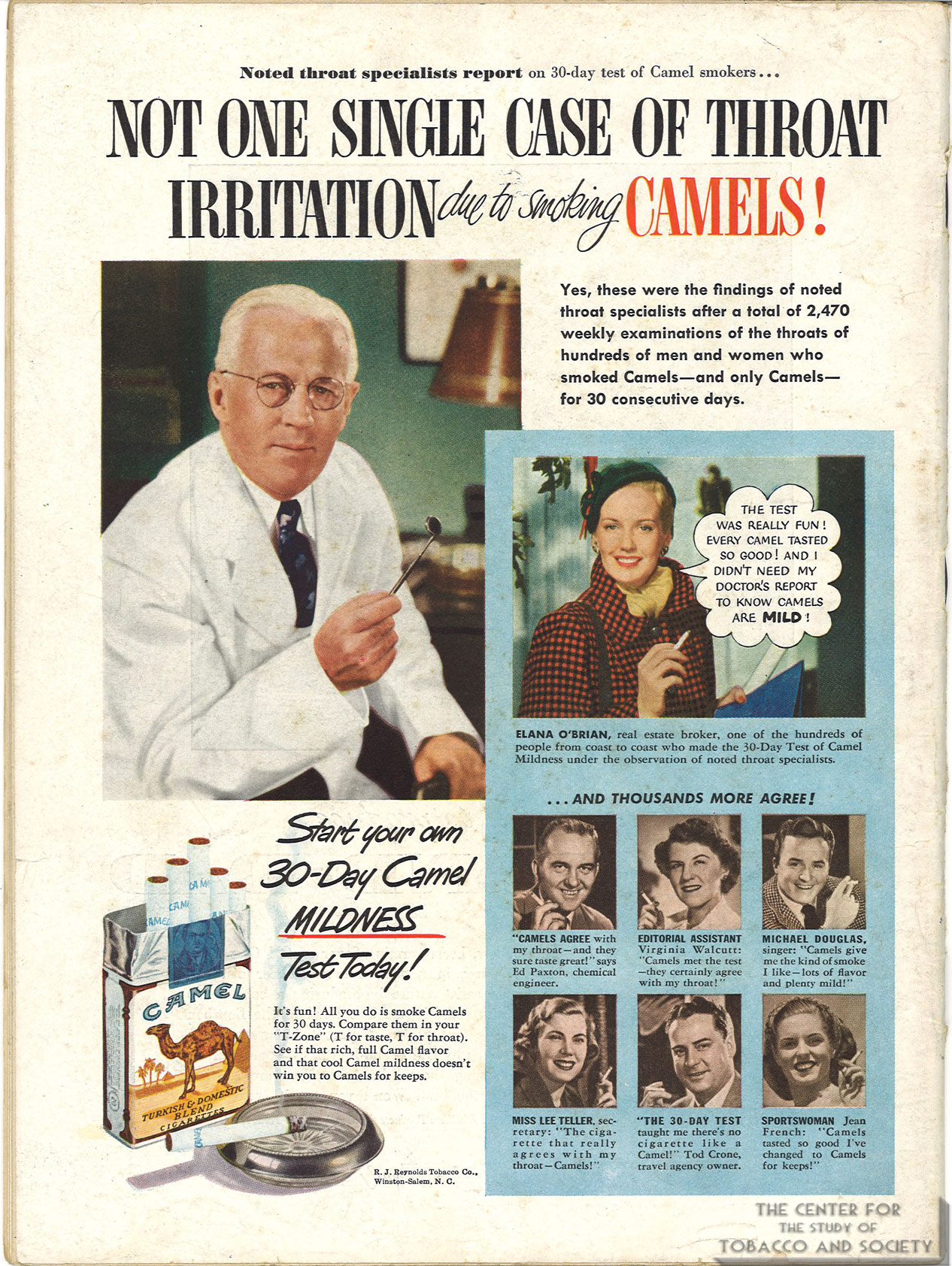 1950-01-16-Life-Camel-Ad-Dr-With-Mouth-M