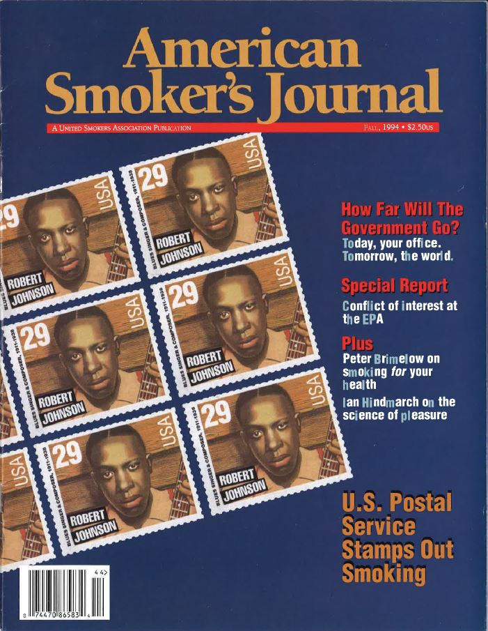 1994 - American Smokers Journal - The U.S. Postal Service Stamps Out Smoking