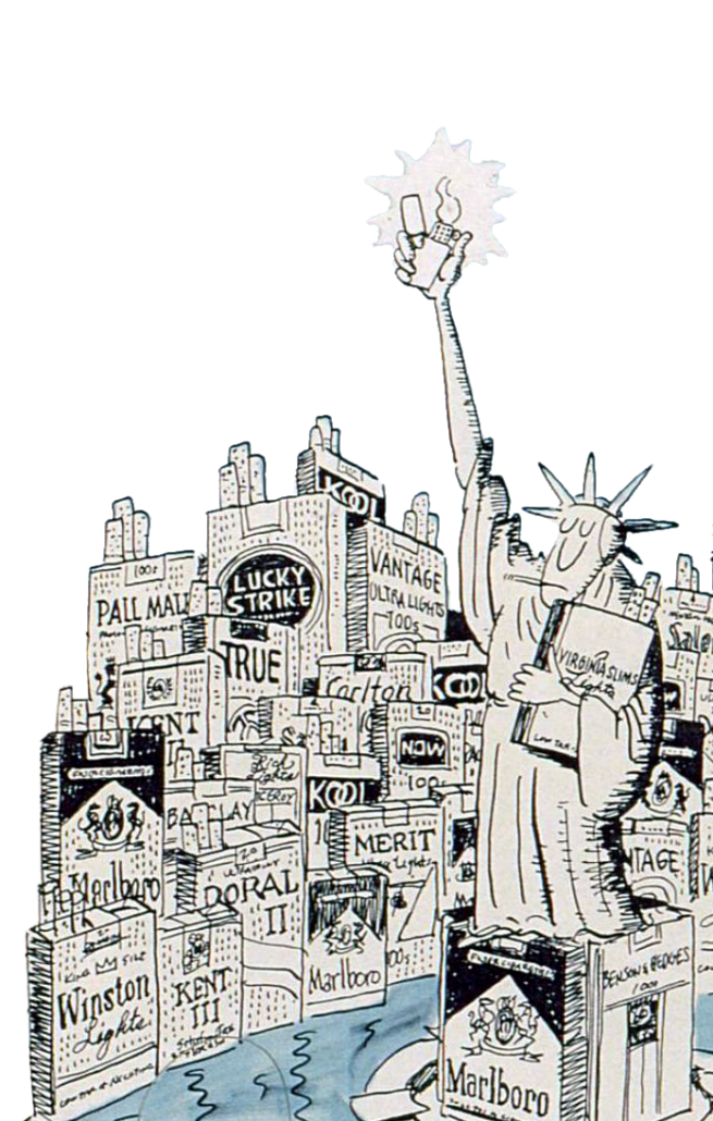 Lady Liberty Smoking - Stayskal Cartoon