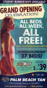The Crimson and White - Palm Beach Tan Advertisement