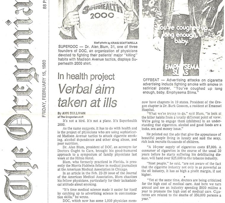 1980-02-15-The Oregonian - In Health Project, Verbal Aim Taken at Ills