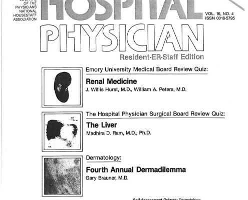 1980- Hospital Physician - Butting In Where It Counts