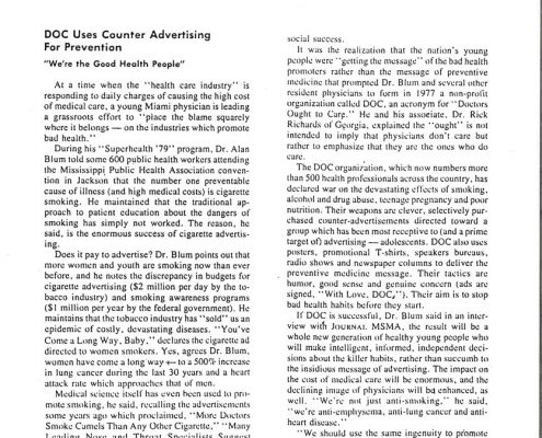 1980- Miss. Medical Journal - DOC Uses Counter Advertising for Prevention