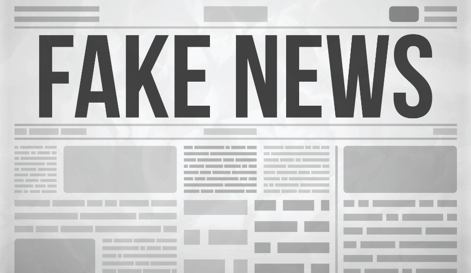 Image of headline Reading Fake News