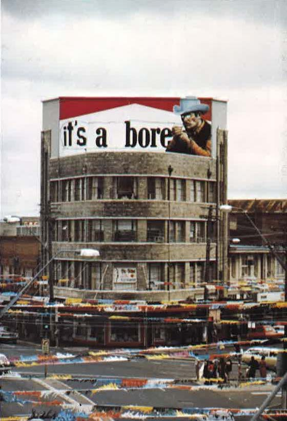 1981 - BUGA-Up - Defaced Billboards - It's a Bore