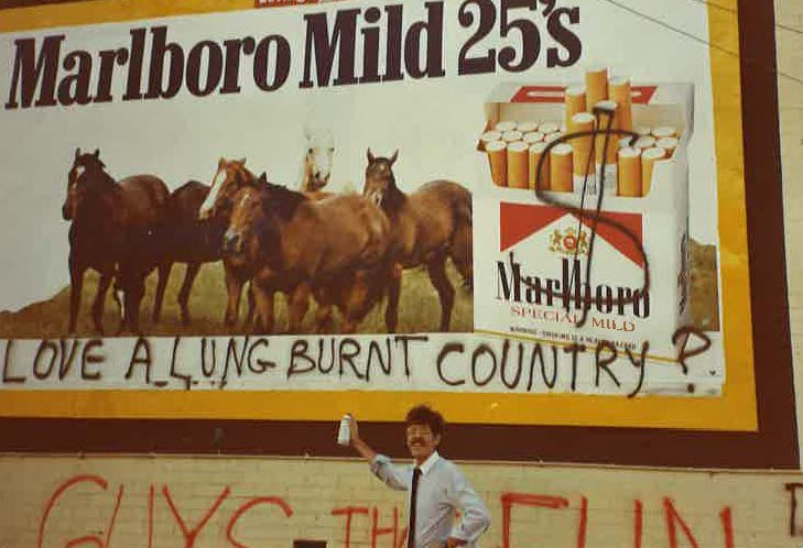 1981 - BUGA-Up - Defaced Billboards - Love a Lung Burnt Country