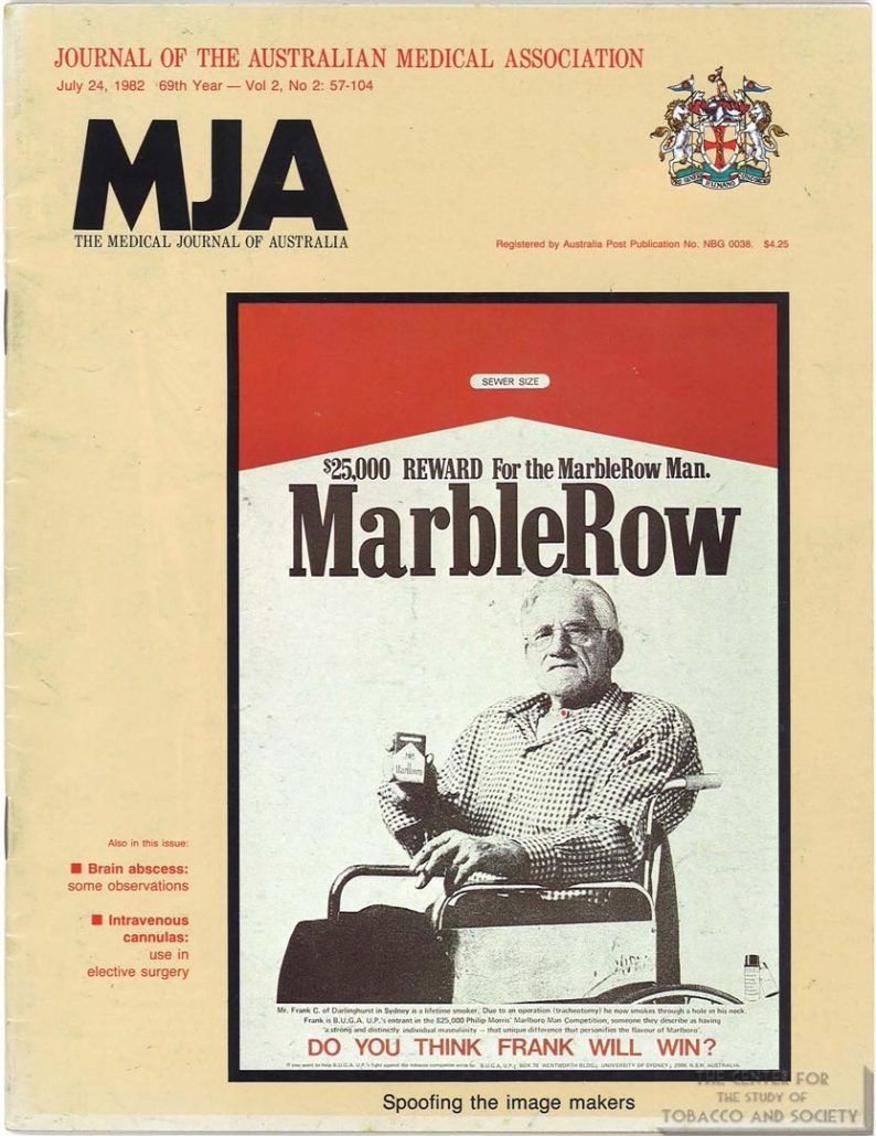 1982-07-24 - MJA - Tracheostomy for the Marlboro Man BUGA Up cover story