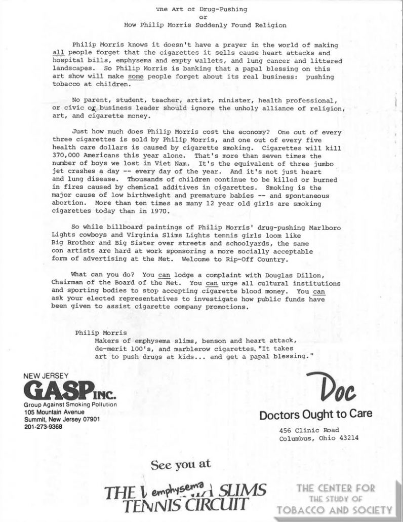 1983-1984 - DOC - GASP - The Art of Drug Pushing
