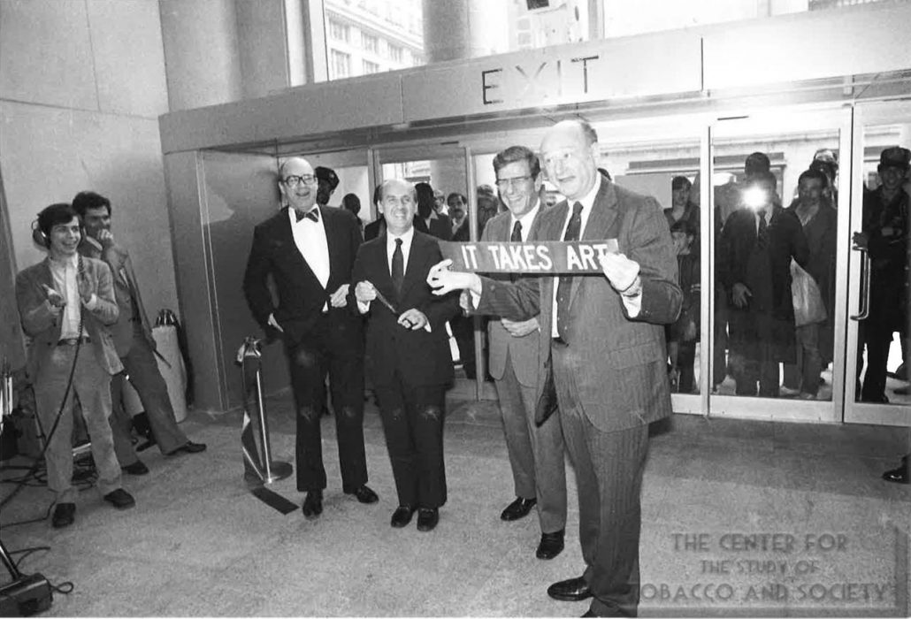 1983- Photograph of opening of Whitney Museum at Phip Morris