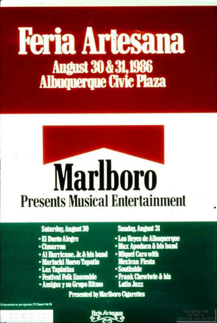 1986-08-30 - Marlboro - Presents Musical Entertainment - Feria Artesana